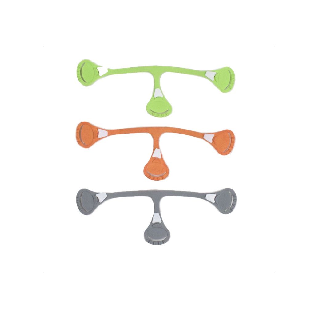 Snappi Fastener Green Orange Grey