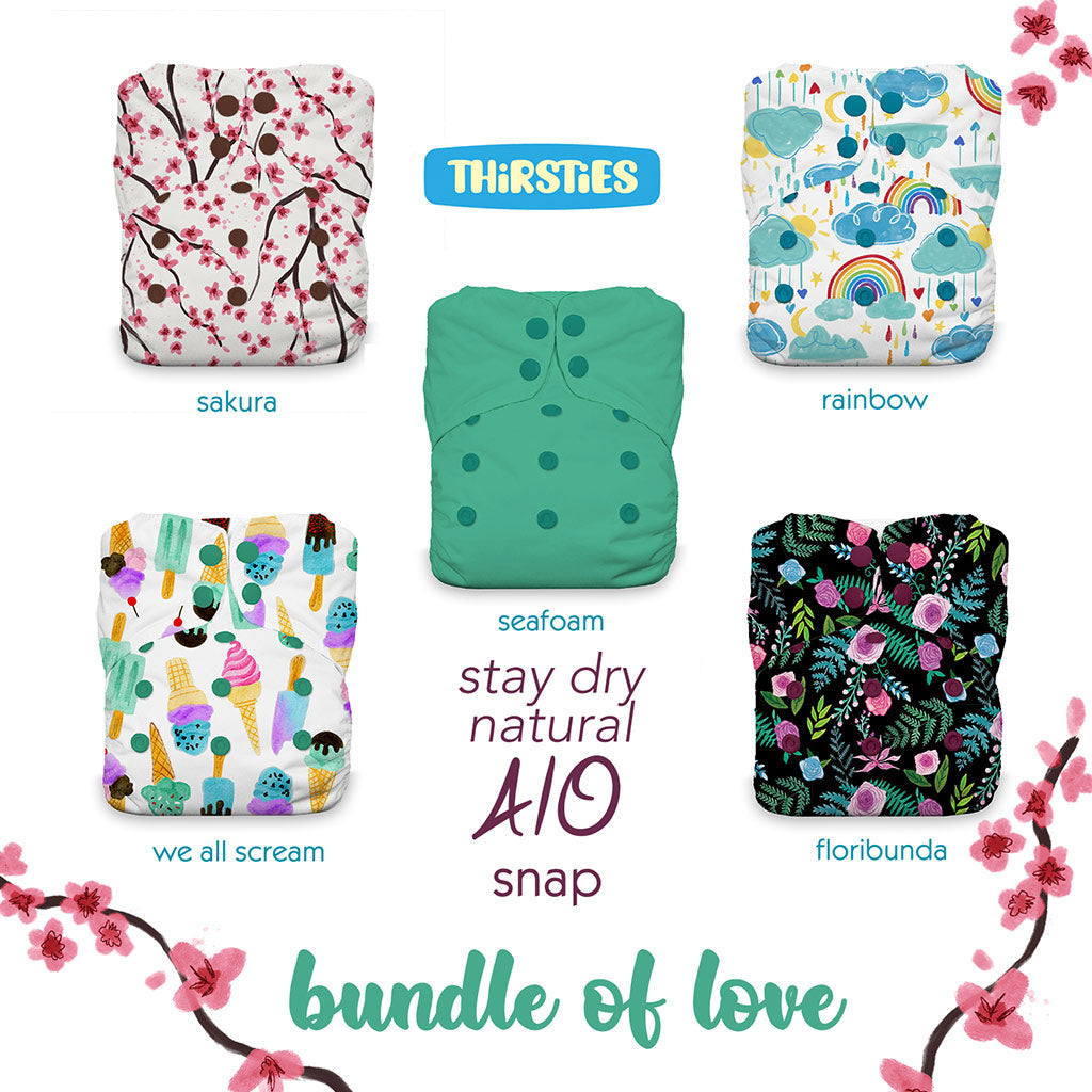 Thirsties Natural AIO Stay Dry Bundle of Love