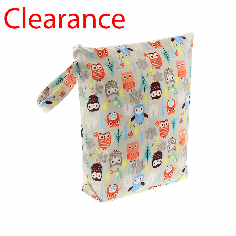 Sale diaper wet bag owls print