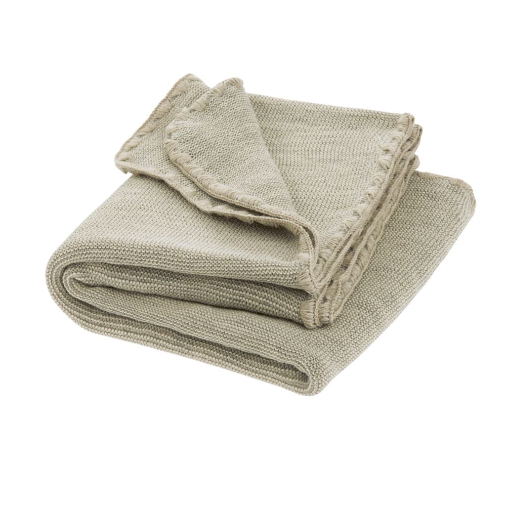 Wool Baby Blanket Grey