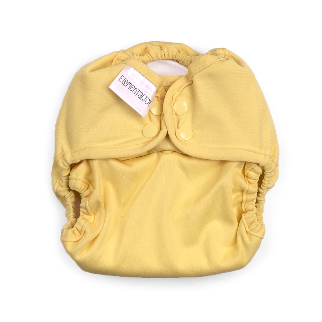 Elemental Joy cloth diaper butternut yellow
