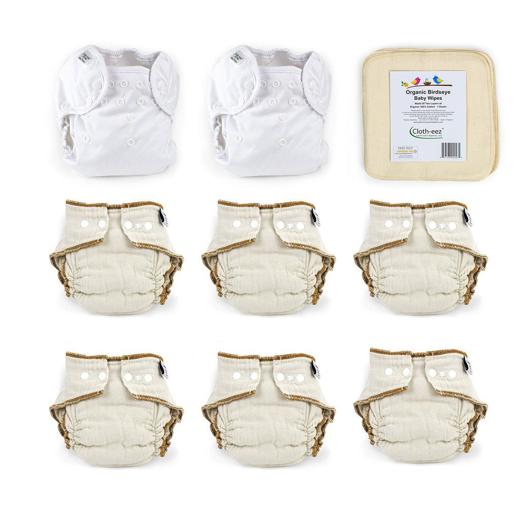 give it a try cloth diaper kit size large organic