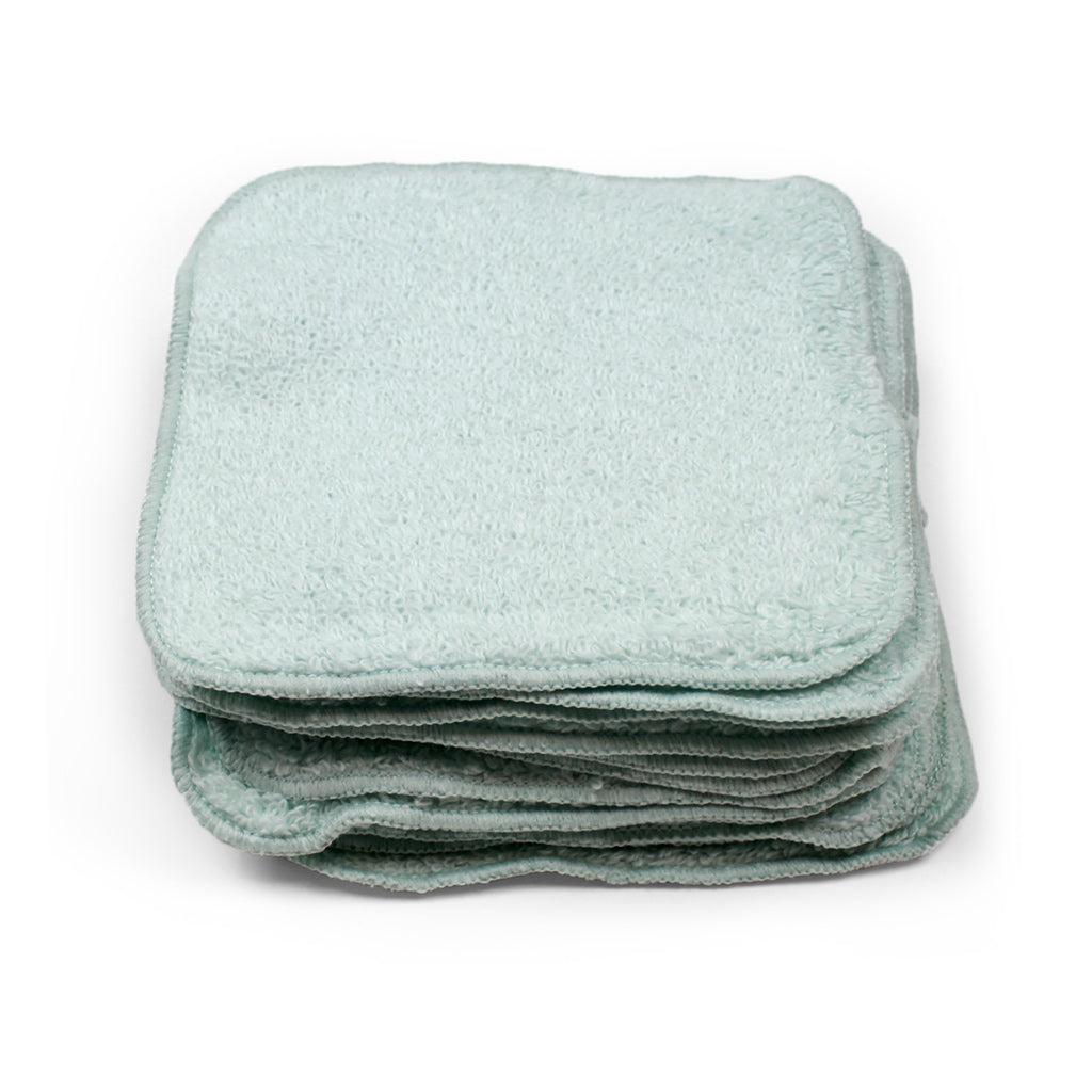 Zero twist terry baby washcloth