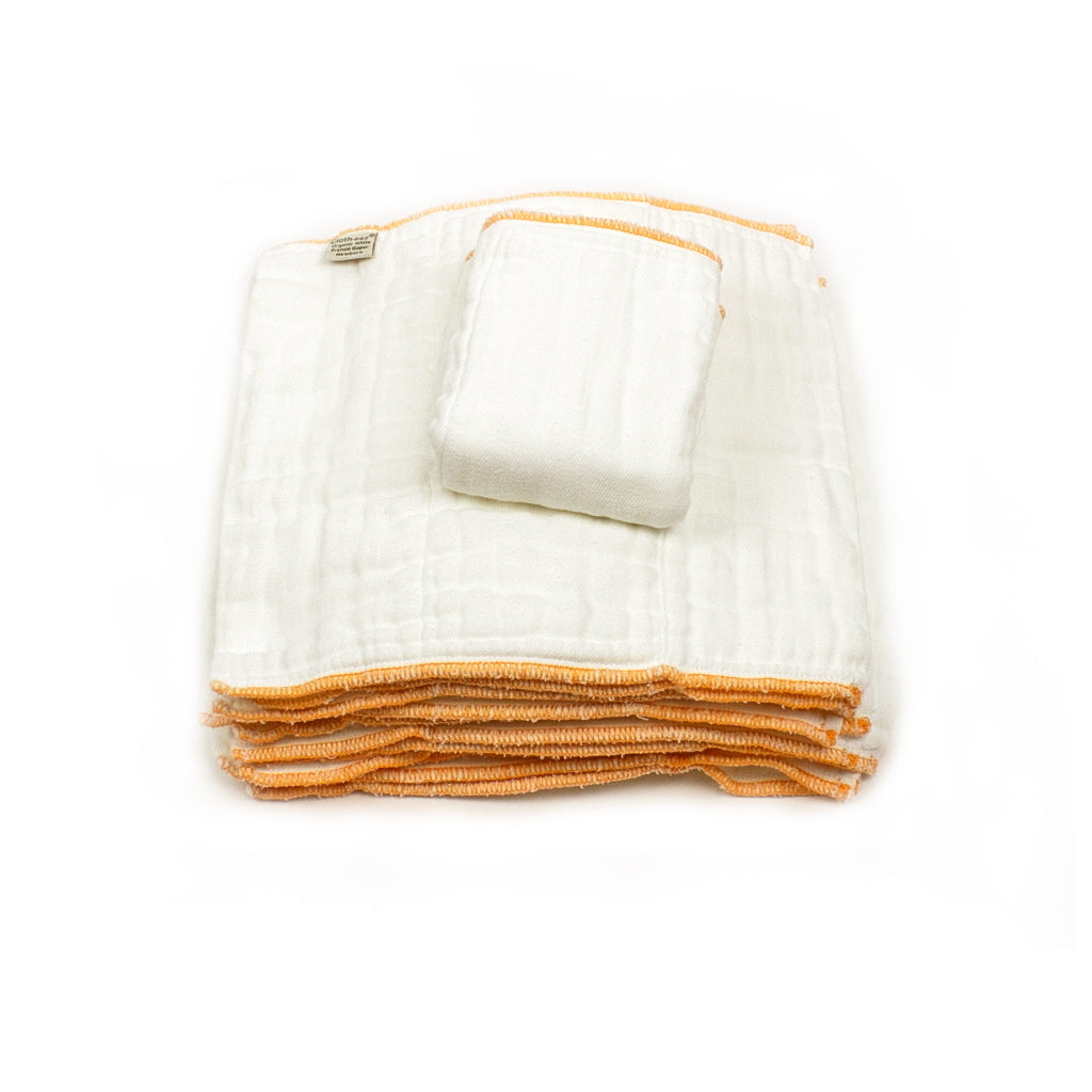 Cloth-eez Prefold Diapers - Organic White - SALE!
