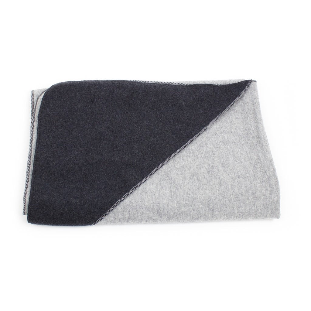 Disana Children's Boiled Wool Blanket (140 x 100 cm) Grey-Anthractite
