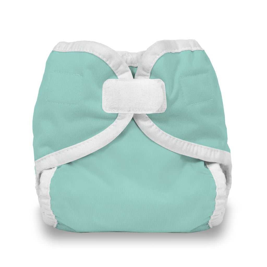 Thirsties Diaper Cover Hook and Loop Newborn Aqua