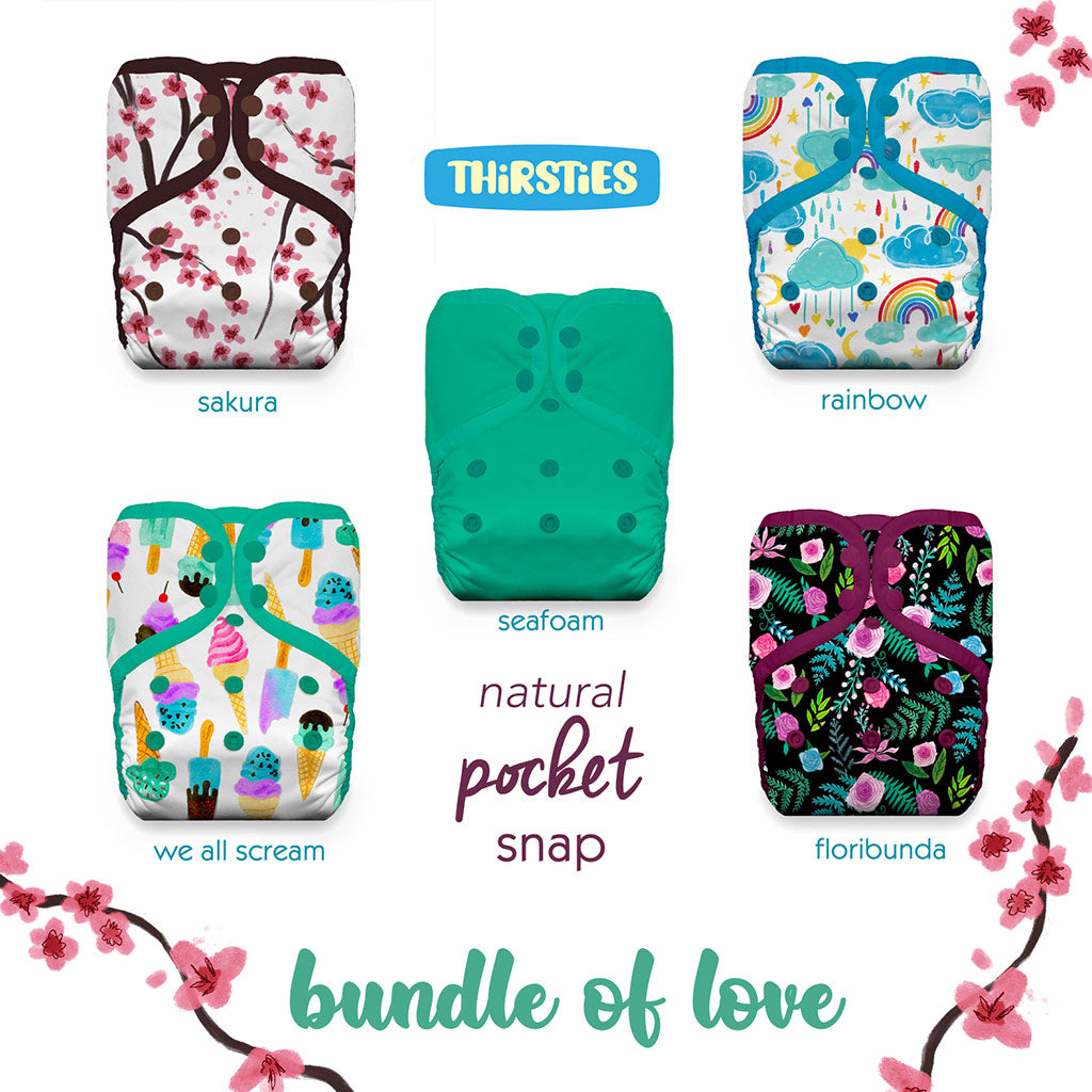 Thirsties Natural Pocket Diaper Bundle of Love