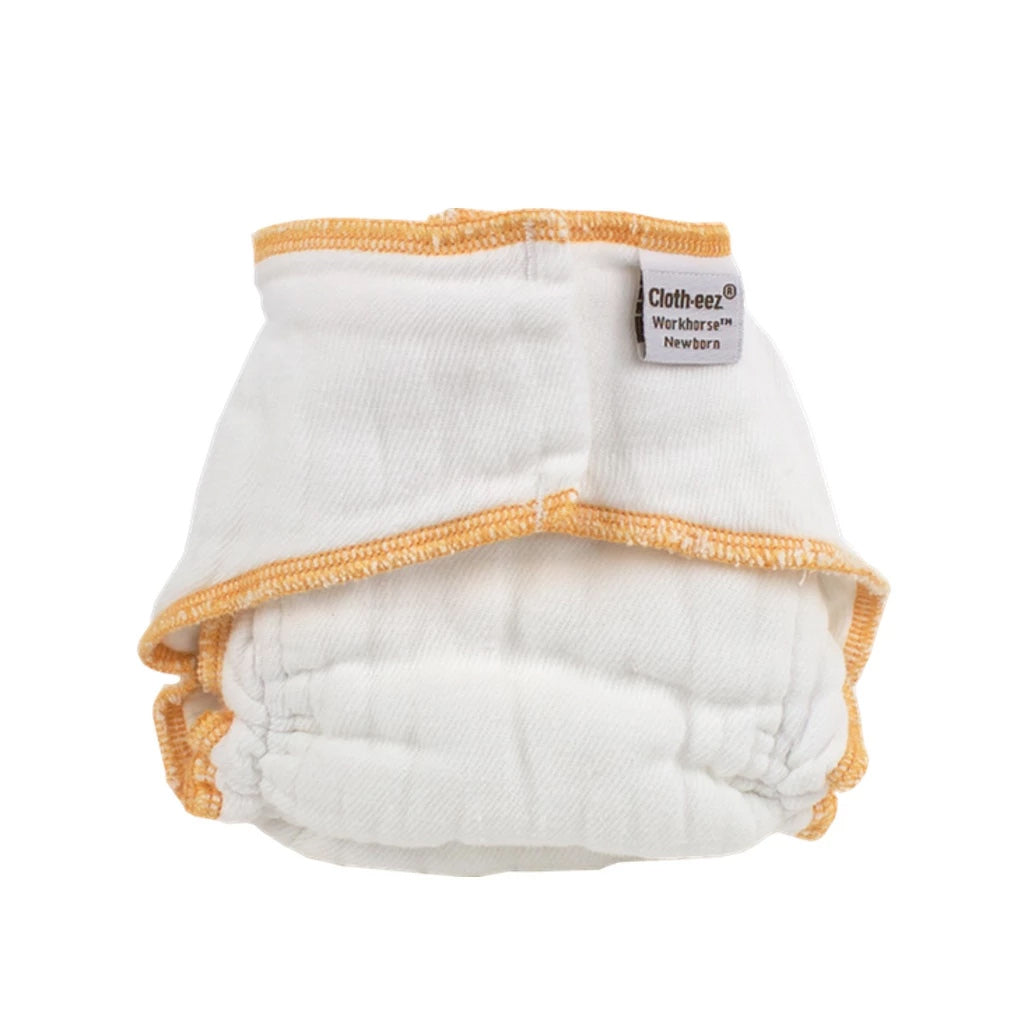 Workhorse fitted diaper newborn no closure snapless