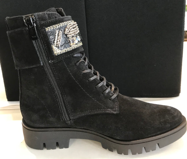 Suede Boot with Jewels