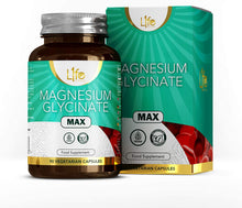 L1fe Nutrition Magnesium Glycinate Capsules | 90 Vegan Magnesium-Glycinate Supplements, 1250mg per Serving | Non-GMO, Gluten, Allergen & Dairy Free | Manufactured in The UK