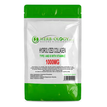 Hydrolyzed Collagen Type I & III 1000mg with Vitamin C Tablets Herb-ology
