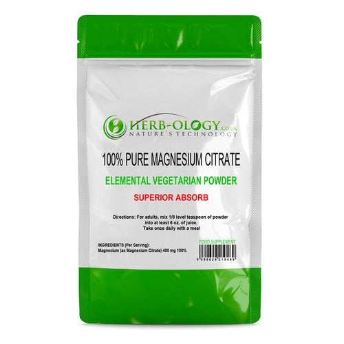 Magnesium Powder Citrate Mineral Supplement Herb-ology Unflavoured