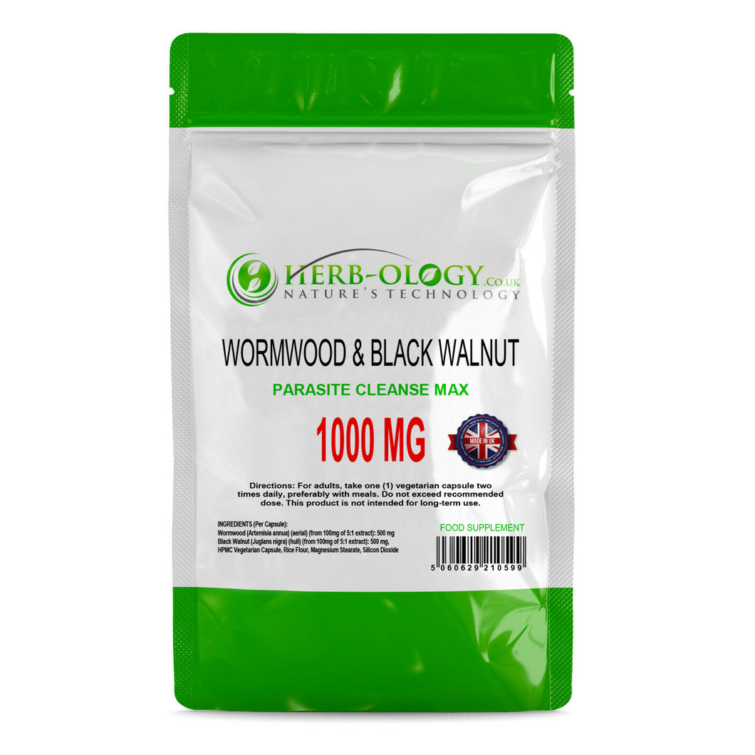 Wormwood Capsules Black Walnut Complex 1000mg Parasite Cleanse Extract Supplement