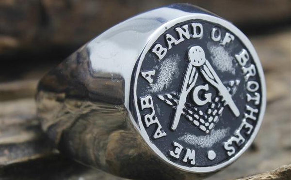 band of brothers masonic ring