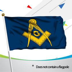 3x5 feet Blue & Gold Masonic Flag - High Quality & Durable w/ 2 Brass Grommets