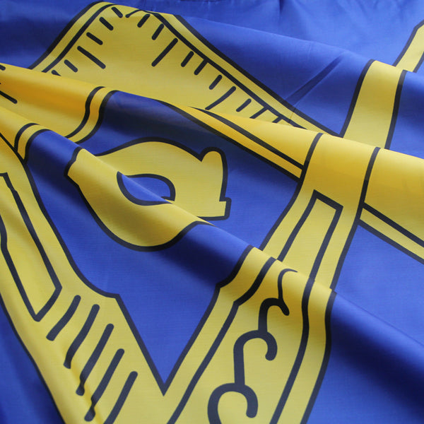 gold masonic flag