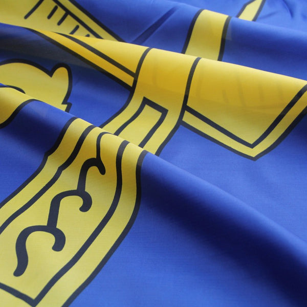 blue and gold Masonic flag