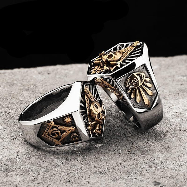 Hex Men's Masonic Ring (Hot Seller)