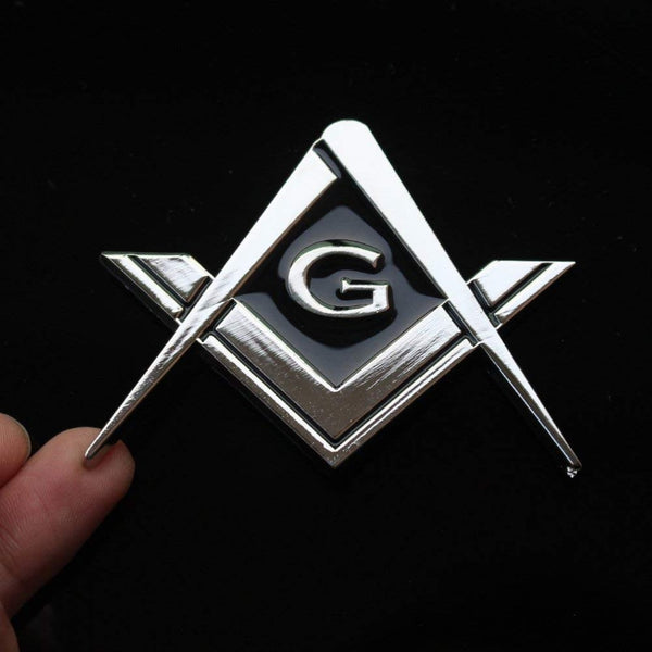 "Masonic Car Emblems 2.75"" Chrome Plated"