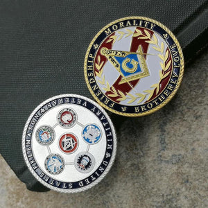 United States Five Armies Masonic Coin (Buy 1 Get 1 Free)