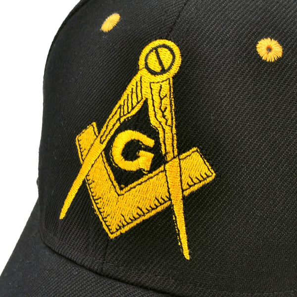 Masonic Baseball Cap closeup