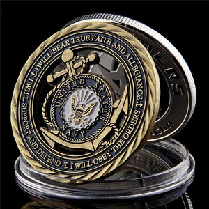 US Navy Emblem Core Military Commitment Coin