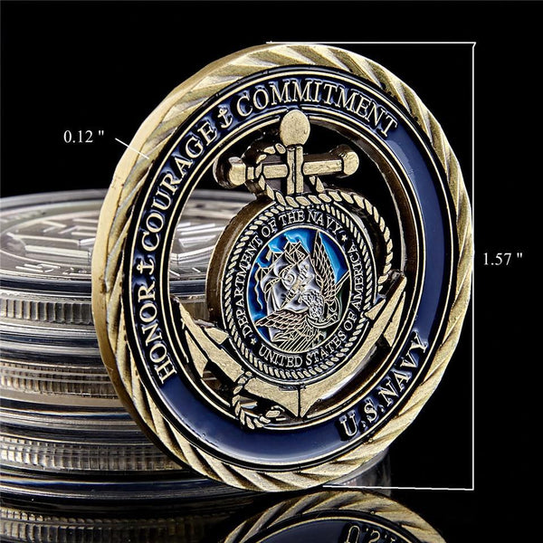 US Navy Emblem Core Military Commitment Coin front