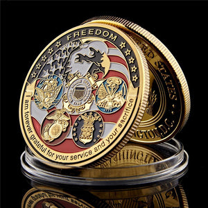 USA Freedom Commemorative Challenge Coin