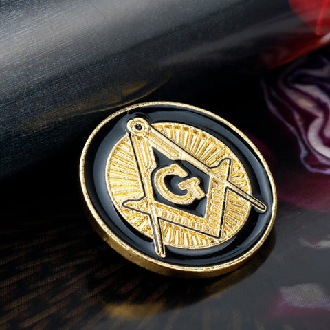 Round Masonic Lapel Pin Badge