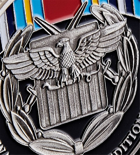 Global War On Terror Expeditionary Coin close-up