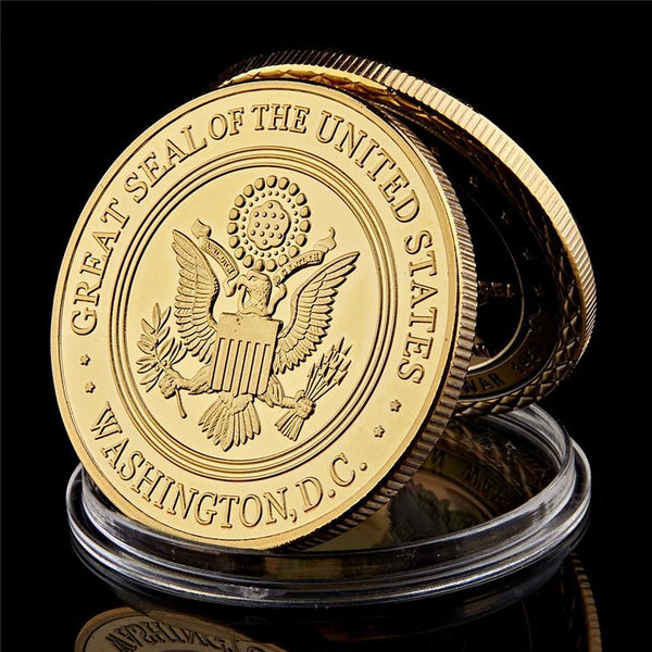 CIA Challenge Coin Set gold back