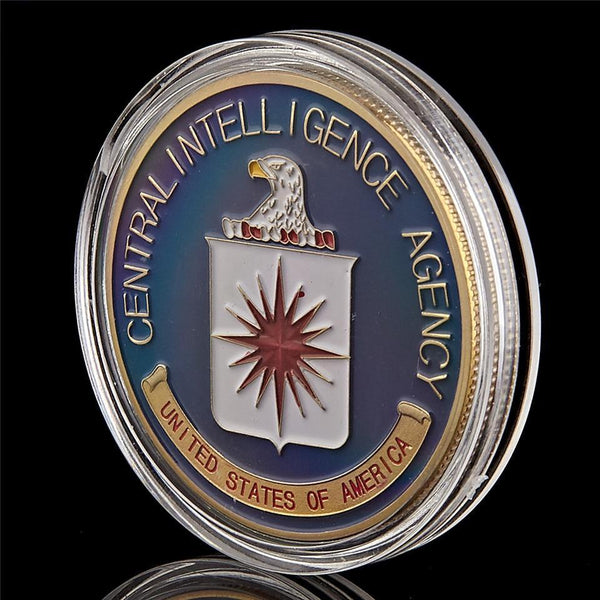 CIA Challenge Coin Set plastic cover