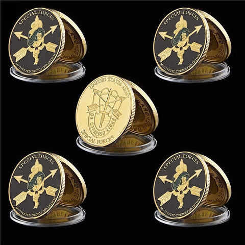 5 Piece Military Beret US Special Forces Coin (Clearance Sale)