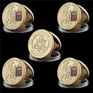 5 Piece USA 82nd Division Screaming Eagles Coin (Clearance Sale)