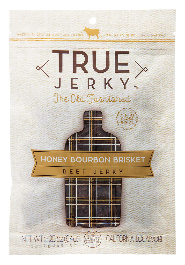 "TRUE Jerky: 'The Old Fashioned"" Honey Bourbon Brisket – Beef Jerky"