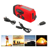 3 in 1 Emergency Charger Hand Crank Generator Wind/Solar/FM/AM Radio,Phones Chargers LED Flashlight