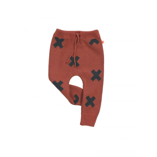 Tiny Cottons Logo Pant Knit (Terracotta)