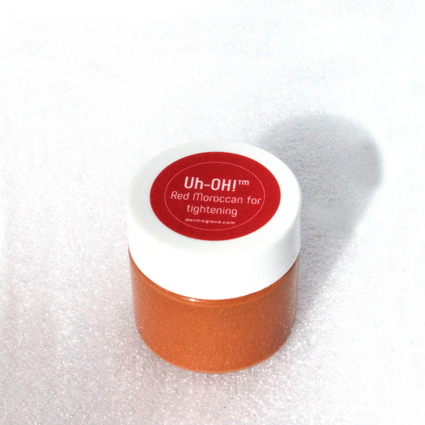dermaglove Uh-OH! Red Moroccan Face Mask