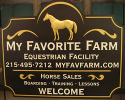 Custom Stable Sign
