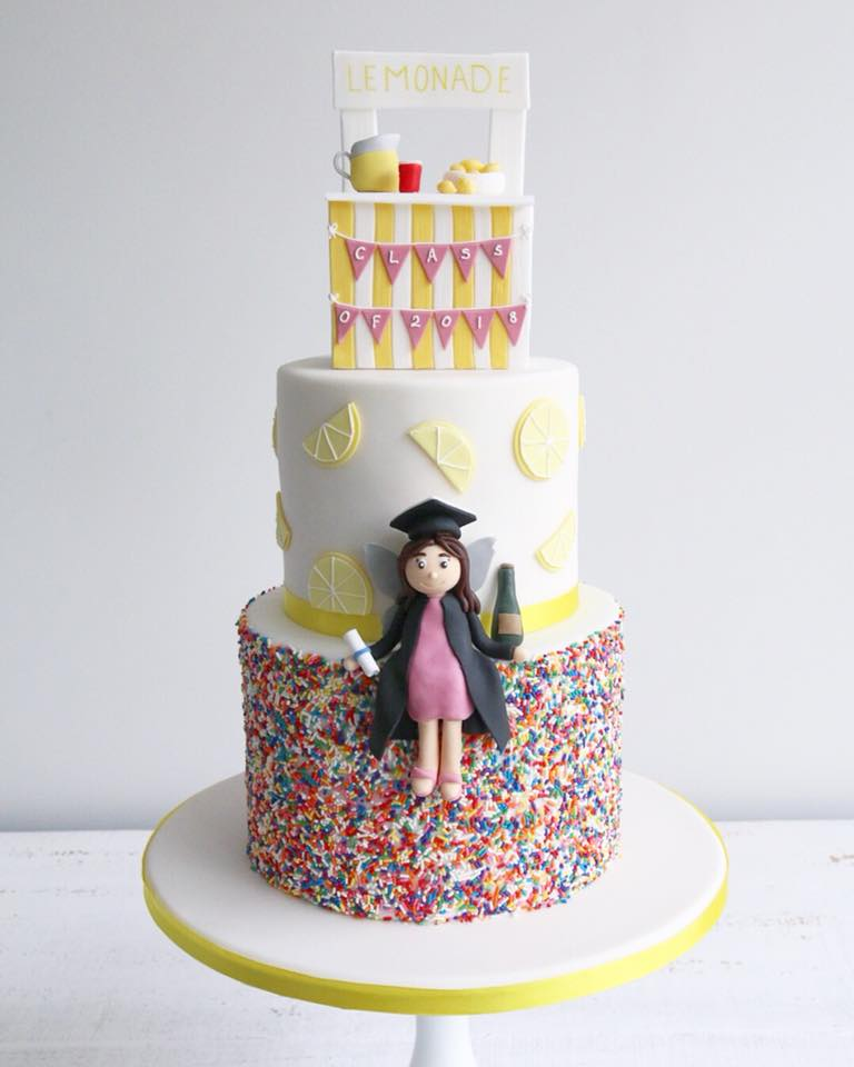 Lemonade Stand Graduation Cake