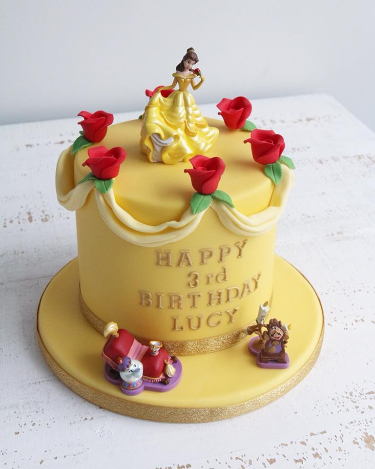 Fondant Beauty and The Beast Cake