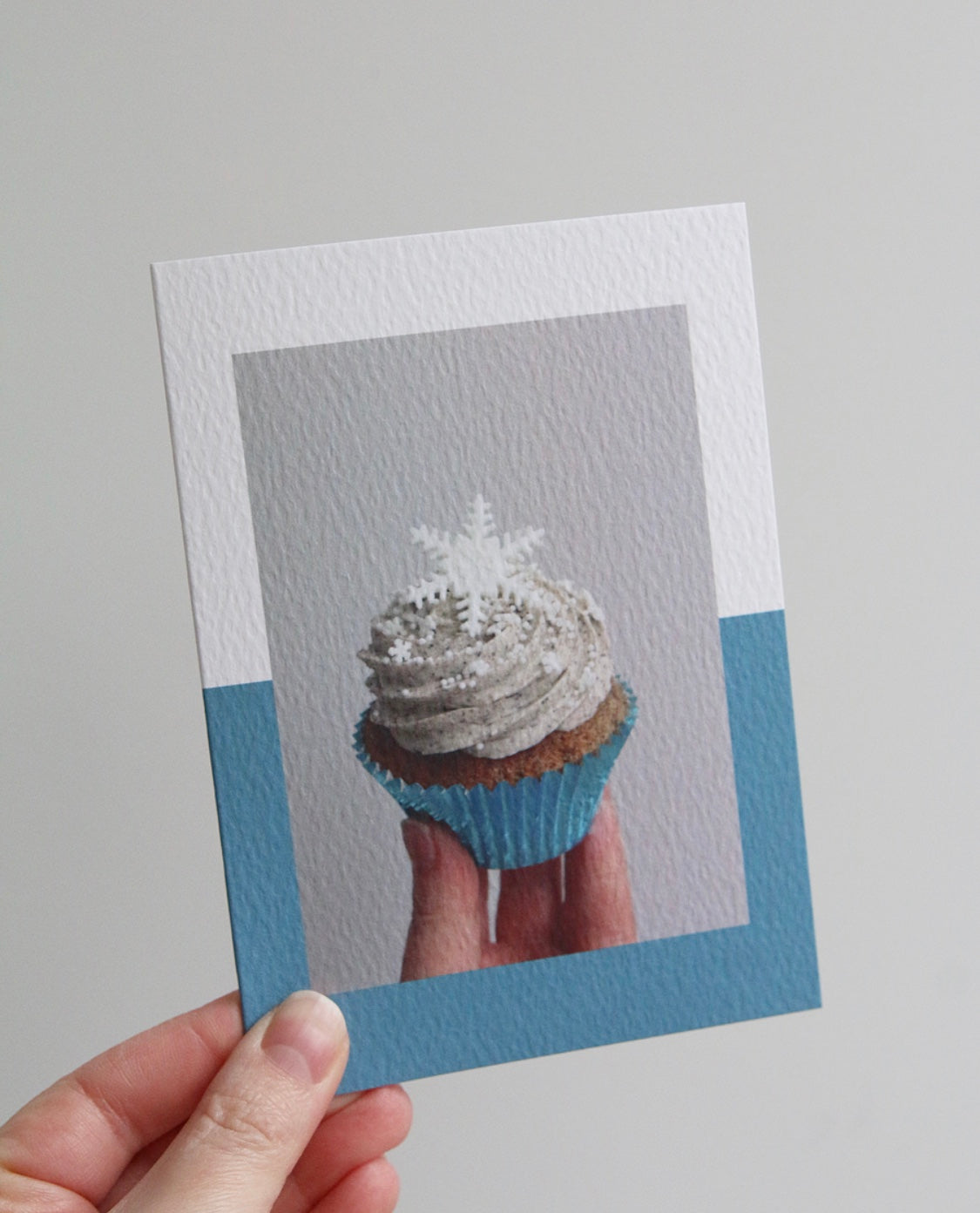 Snowflake Cupcake Photo Christmas Card