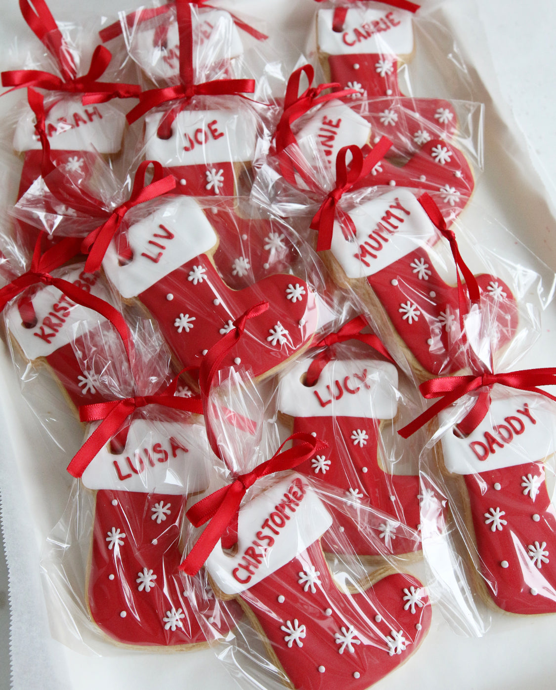 Personalised Christmas Stocking Biscuits