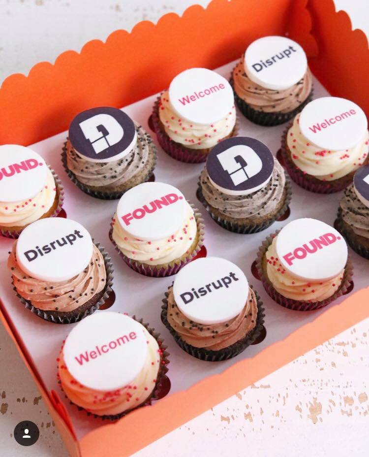 Corporate Logo Cupcakes for Found and Disrupt