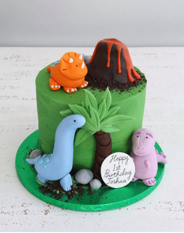 Cool Dinosaur Birthday Cakes Claygate Surrey Afternoon Crumbs Personalised Birthday Cards Sponlily Jamesorg