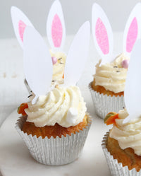 Easter Bunny Cupcake from Back