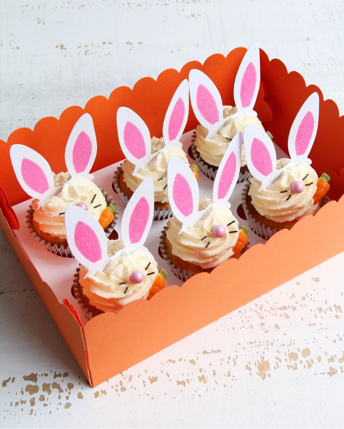 Easter Bunny Cupcakes in Box
