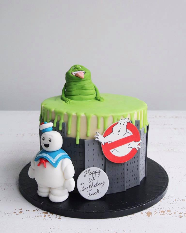 Ghostbusters Drip Cake