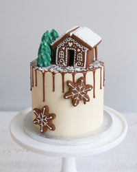 Gingerbread House Drip Cake
