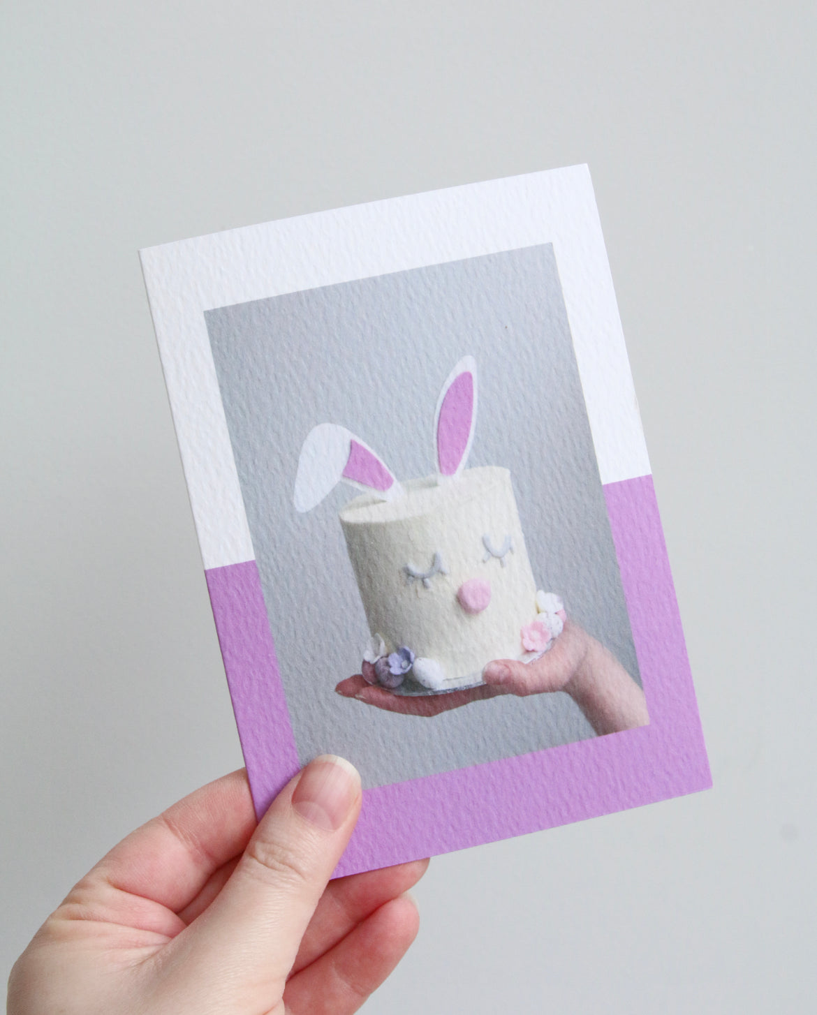 Easter Bunny Cake Photo Card Holding
